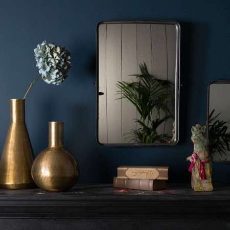 Dutchbone Poke Black Iron Wall Mirror