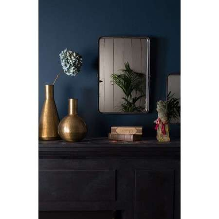 Dutchbone Poke Black Iron Mirror from Accessories for the Home
