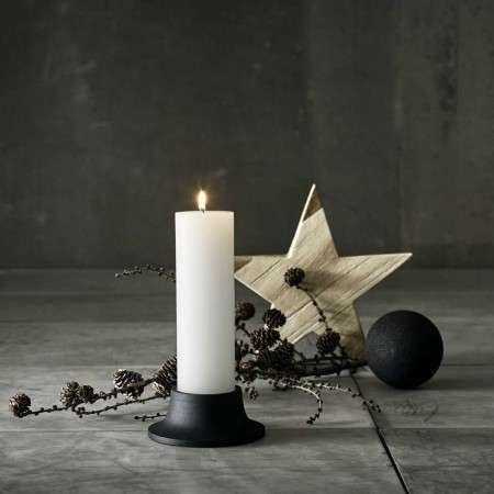 Muubs Black Cast Iron Amara Candle Holder