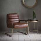 Swindon Matt Saddle Lounge Chair from Accessories for the Home