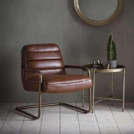 Swindon Saddle Tan Lounge Chair