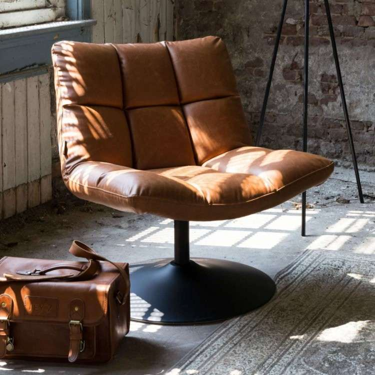 Dutchbone Bar Vintage Brown Lounge Chair from Accessories for the Home