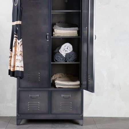Black Metal Locker Cabinet