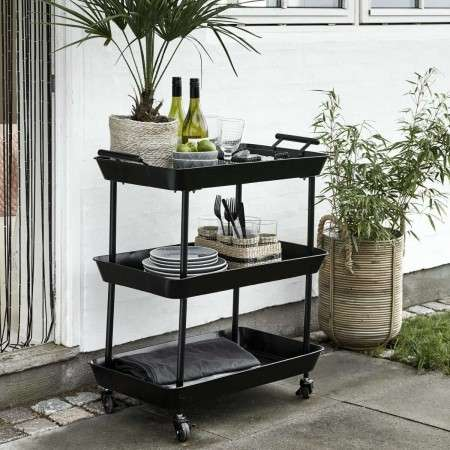 Nordal Macy Iron Three Tier Tea Trolley