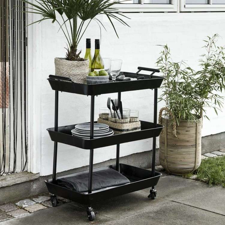 Nordal Macy Iron 3 Tier Tea Trolley from Accessories for the Home