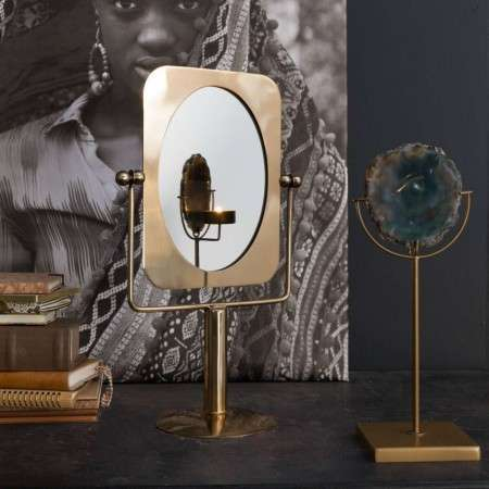 Dutchbone Pris Brass Tilting Dressing Table Mirror from Accessories for the Home