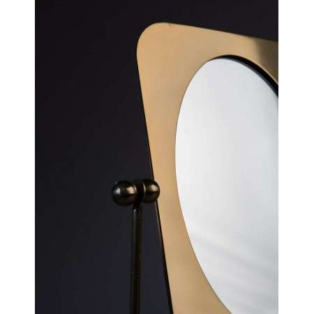 Dutchbone Pris Brass Dressing Table Mirror from Accessories for the Home
