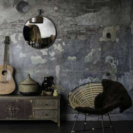 Dutchbone Attractif Round Industrial Style Mirrors