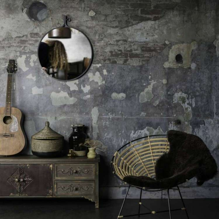 Dutchbone Attractif Round Industrial Style Mirrors from Accessories for the Home