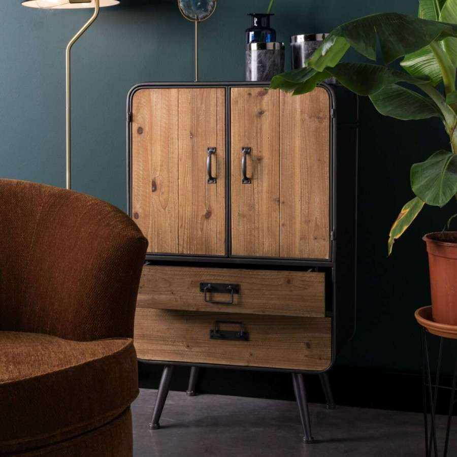 Dutchbone Industrial Style Gin Cabinet Acc For The Home