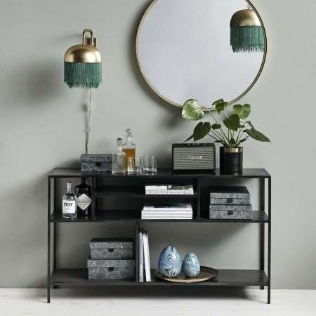 Nordal Karrisa Black Iron Shelf Unit