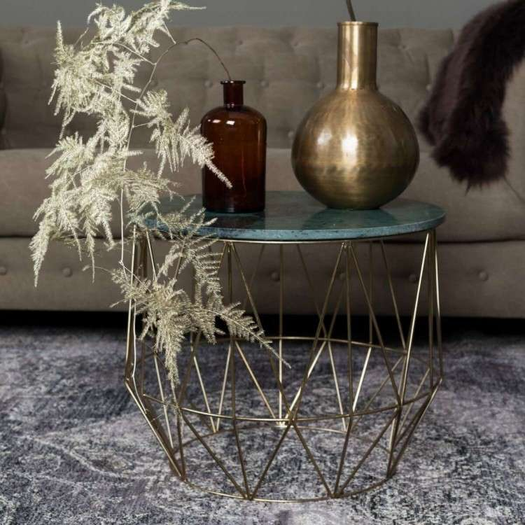Dutchbone Boss Round Marble Side Table from Accessories for the Home
