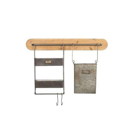 Dutchbone Marley Industrial Style Wall Rack from Accessories for the Home