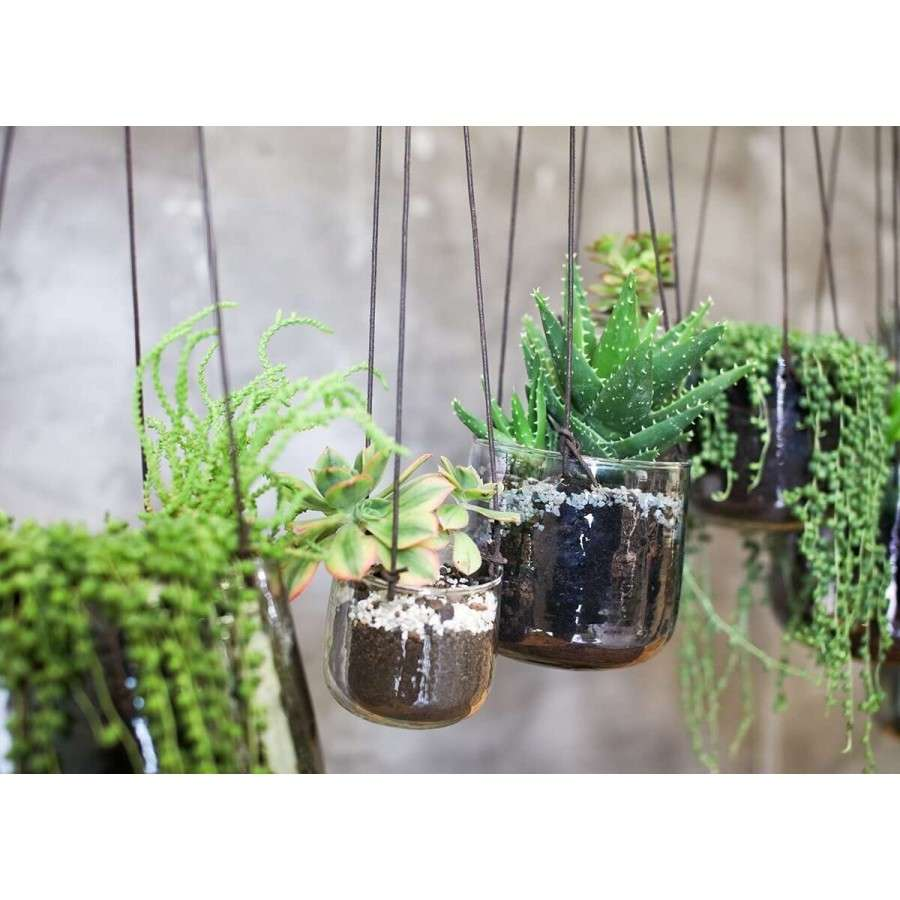 Recycled Glass Hanging Planters Accessories For The Home