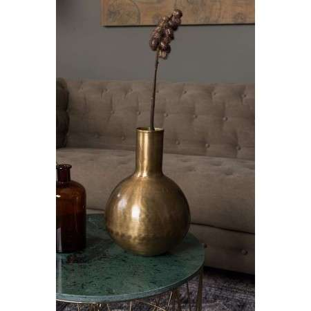 Dutchbone Hari Brass Vase from Accessories for the Home