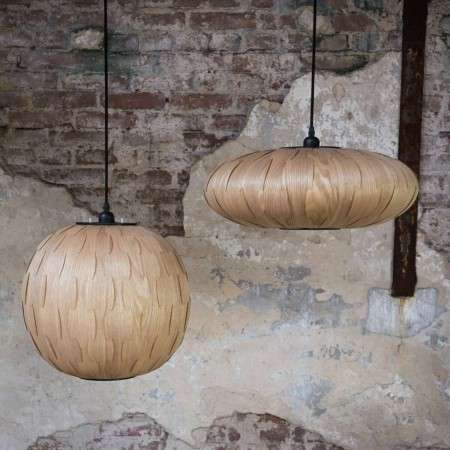 Dutchbone Bond Ash Wood Veneer Pendant Lamps