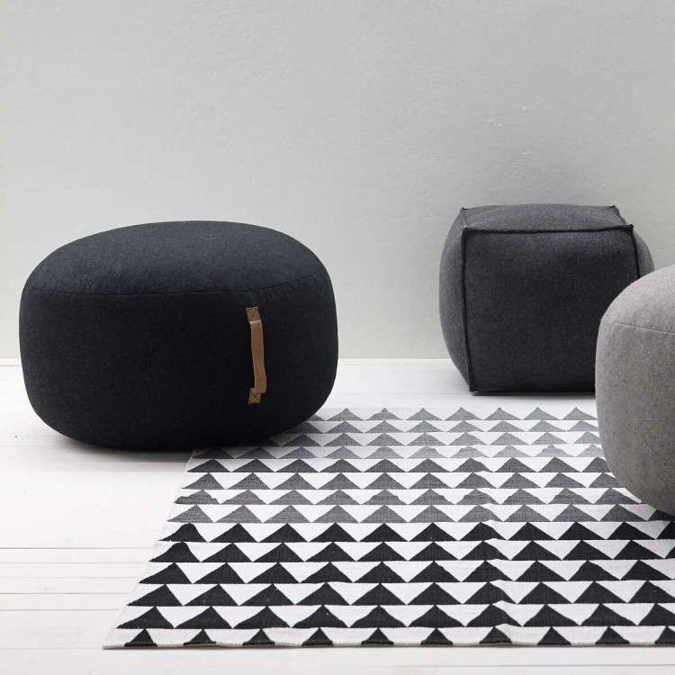 Charcoal & light Grey Pouffe from Accessories for the Home