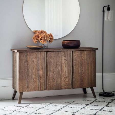 Flint Solid Oak 3 Door Sideboard