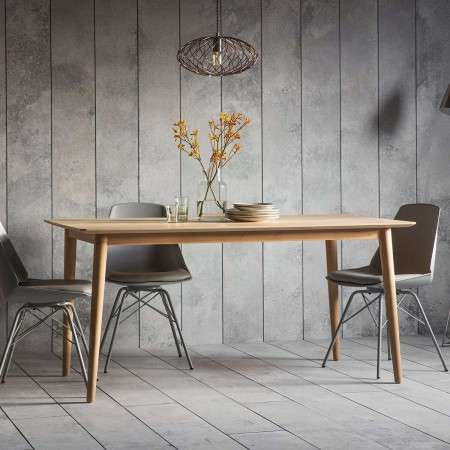 Malmo Chevron Inlay Solid Oak Dining Table