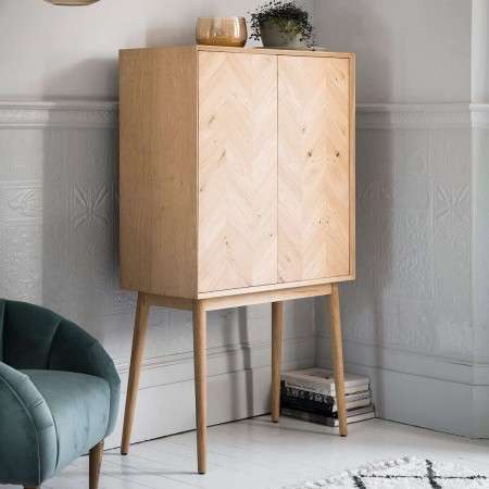 Malmo Oak Cocktail Cabinet from Accessories for the Home