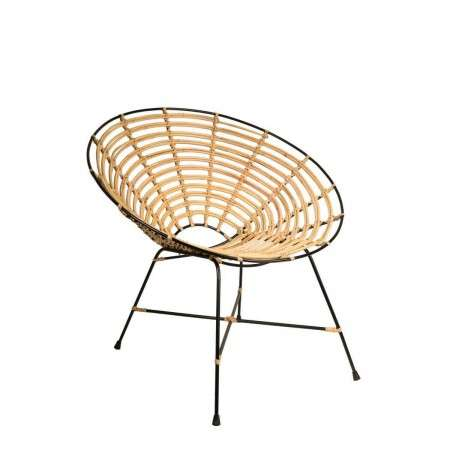 Dutchbone Kubu Natural Rattan Round Lounge Chair from Accessories for the Home