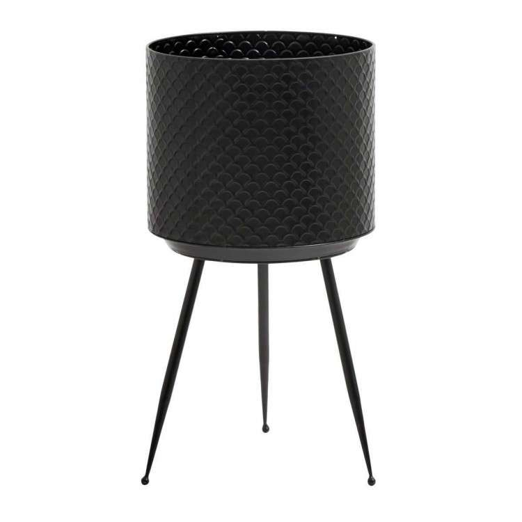 Nordal Indian Black Metal Planters from Accessories for the Home