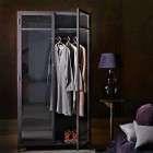 Black Metal Wardrobe from Accessories for the Home