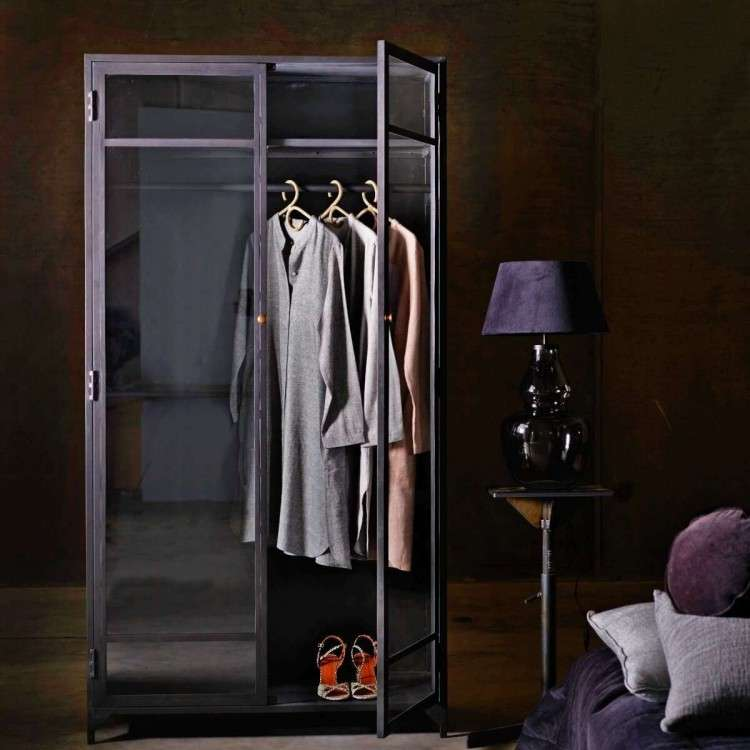 Tinekhome Black Metal Wardrobe from Accessories for the Home