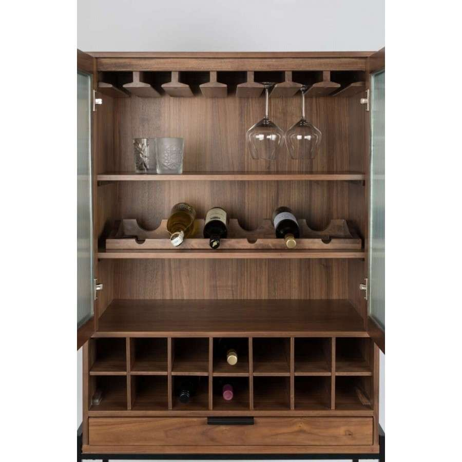 Zuiver Travis Wine Amp Glass Cabinet Walnut Or Oak Acc