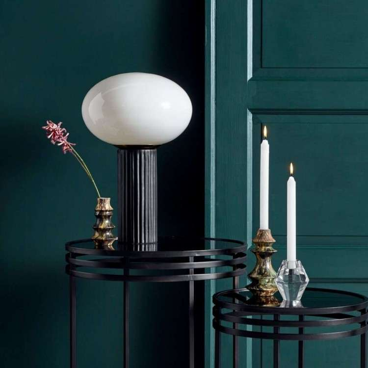 Nordal Opal Glass and Ceramic Table Lamp from Accessories for the Home