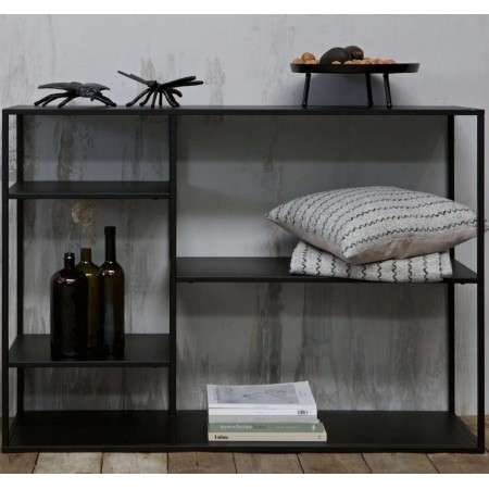 Woood June Black Metal Console Table