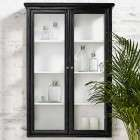Nordal Classic Black Wood Wall Cabinet from Accessories for the Home