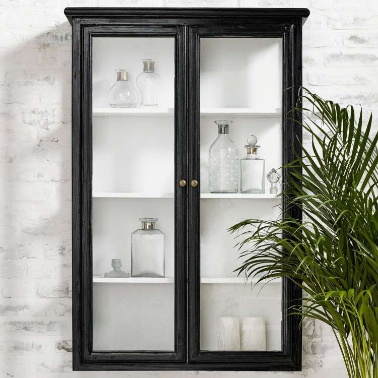 Classic Black Wall Cabinet from Accessories for the Home