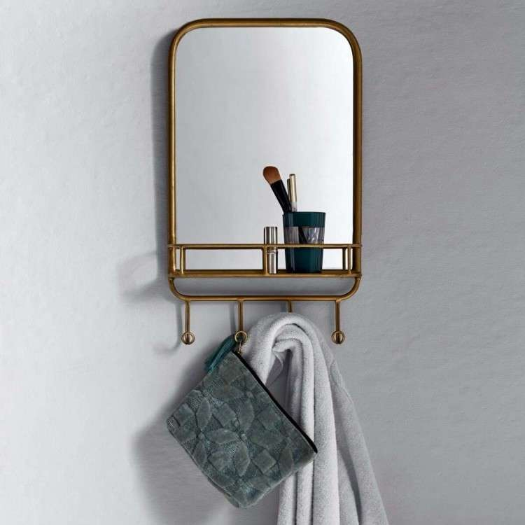 Gold Shelf Mirror from Accessories for the Home