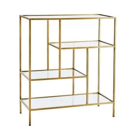 Madam Stoltz Ari Brass Shelf Unit from Accessories for the Home