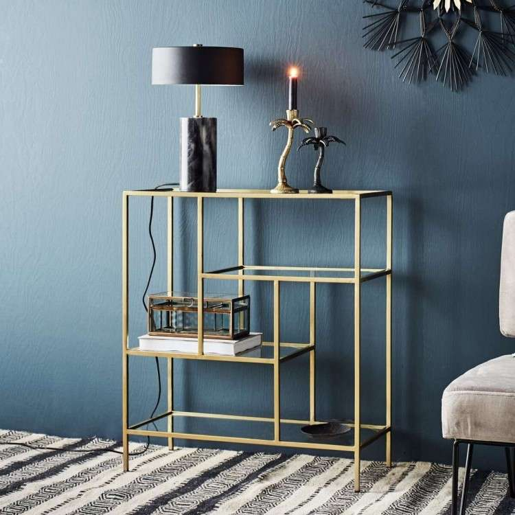 Madam Stoltz Ari Brass Shelf Unit from Accessories for the Home