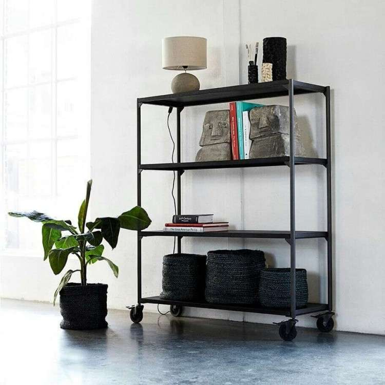 Muubs Black Iron Bookcase 23 from Accessories for the Home