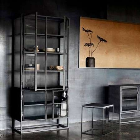 Muubs Black Iron & Glass Display Cabinet 09