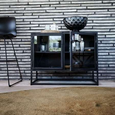 Muubs Iron Industrial Style Sideboard 08 with Glass Doors