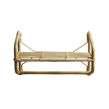 Tinekhome Rattan Wall Hanging Shelf with Rail from Accessories for the Home