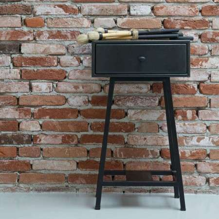 BePureHome Skybox Metal and Wood Side Table