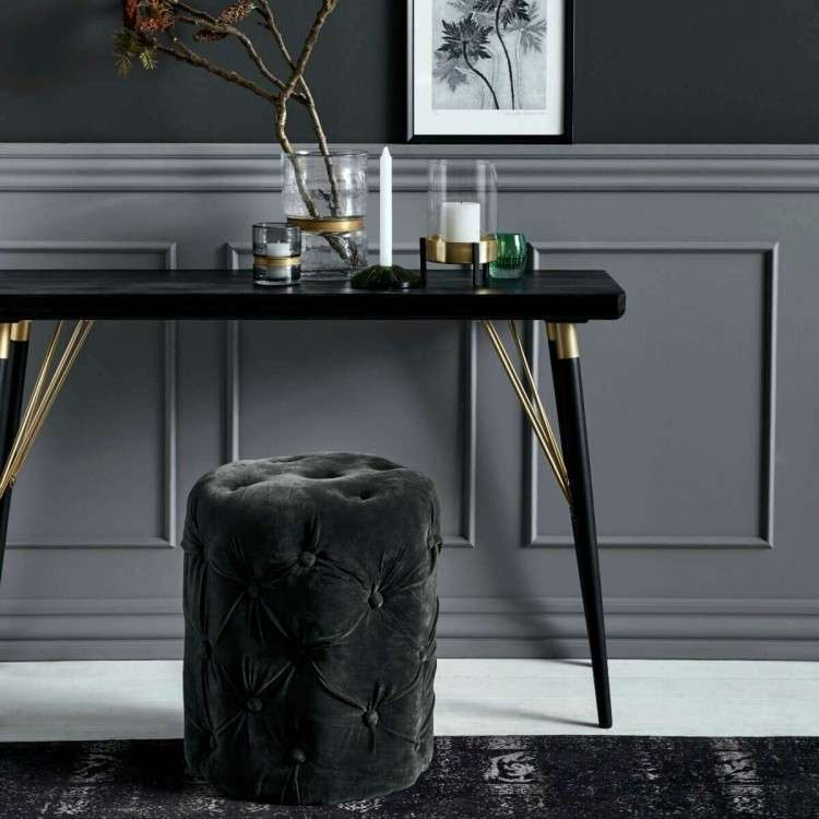 Nordal Black Wood and Gold Console Table from Accessories for the Home