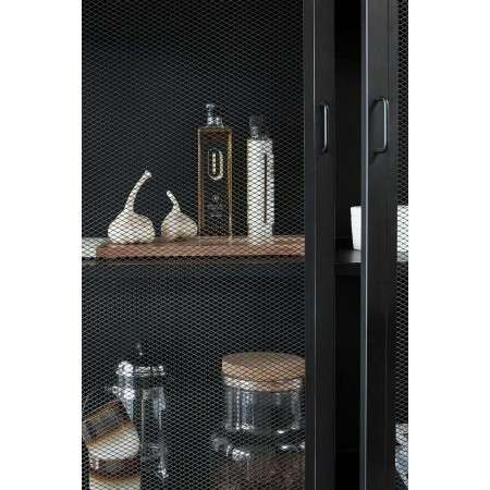 Hubsch Black Metal & Mesh Cabinet from Accessories for the Home