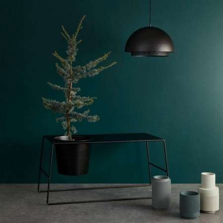 Hubsch Black Metal Planter and Side Table from Accessories for the Home.co.uk