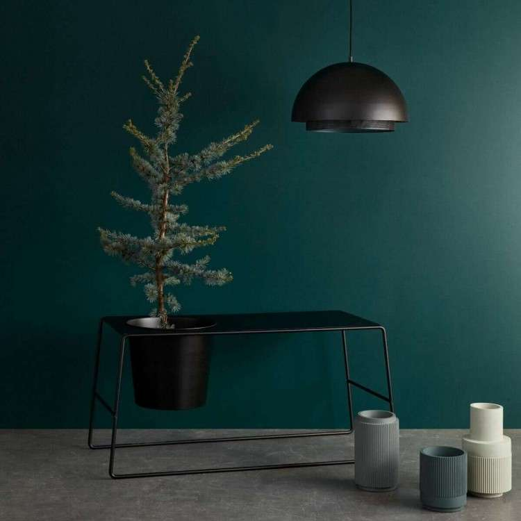 Hubsch Black Metal Planter & Side Table from Accessories for the Home.co.uk