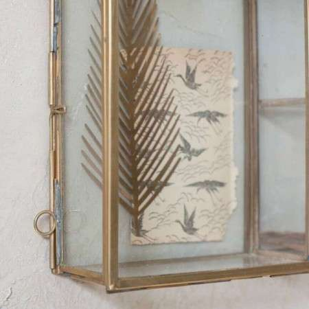 Brass Hanging Photo Box from Accessories for the Home