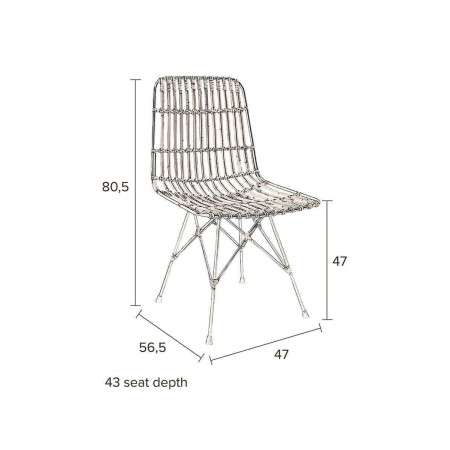 Dutchbone Kubu Natural Rattan Dining Chair from Accessories for the Home