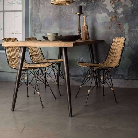 Dutchbone Kubu Natural Rattan Dining Chair