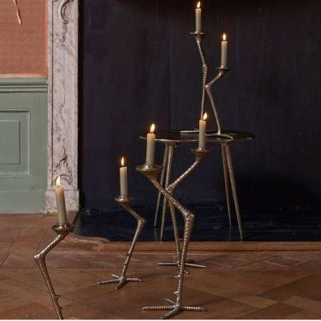 BePureHome Crane Candle Holder in Burnished Gold