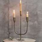 Mbata Brass 3 Candle Candelabra in Antique Brass Finish from Accessories for the Home